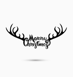Merry christmas typographical design vector