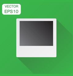 Photo frame icon business concept photograph vector