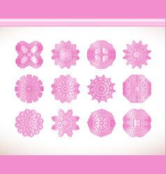 pink round mandala vector image vector image