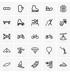 Recreation icons vector image