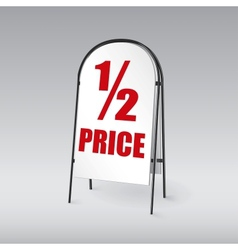 Sandwich board isolated vector image vector image