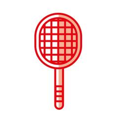 Shadow sport racket cartoon vector
