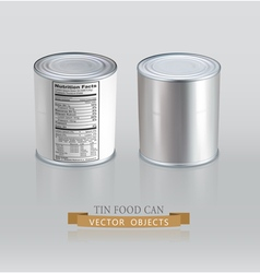 Tin cans realistic element for design vector