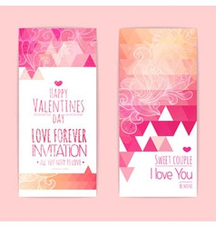 Valentine invitation card vector image
