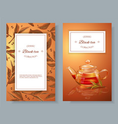 Black tea banners vector