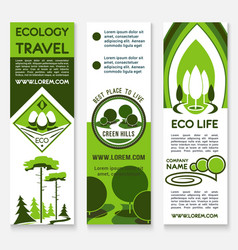 Ecology travel building business banner template vector