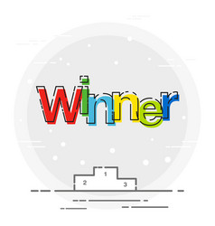 Winner sign icon poduim sport game vector