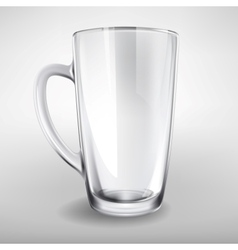 High glass empty realistic cup vector