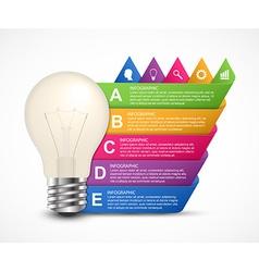 3d light bulb infographics design template vector