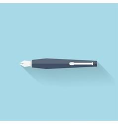 Flat pen icon vector image