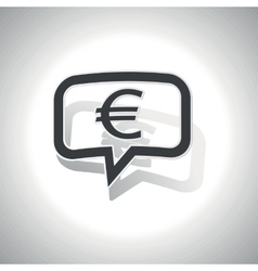 Curved euro message icon vector