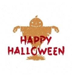 Pumpkin scarecrow vector