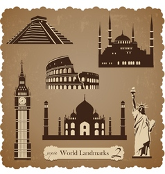 Travel icon set2 sepia silhouettes vector