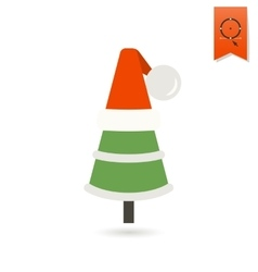 Christmas tree in a hat vector