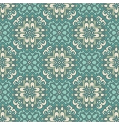 Damask seamless tiles design vector image