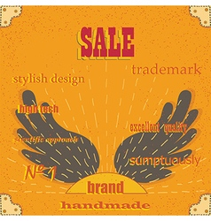 Brand selling excellent quality stylish design vector