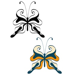 Abstract image openwork butterfly vector image