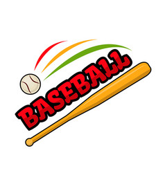 Baseball bat and ball sign vector