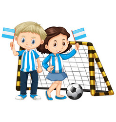 boy and girl holding flag of nicaragua vector image vector image
