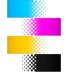 Cmyk colors 3 vector