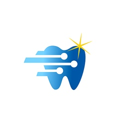 dentist technology shine logo vector image vector image