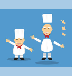 Editable cartoon senior chef for animation vector