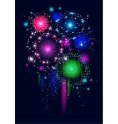 Festive firework vector image