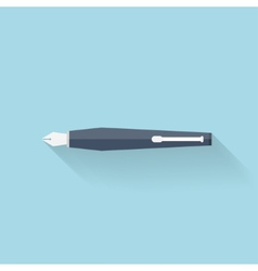 Flat pen icon vector image
