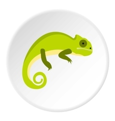 Green iguana icon flat style vector