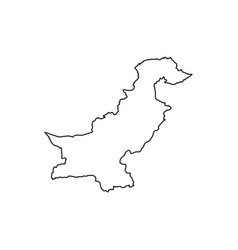 islamic republic of pakistan vector image