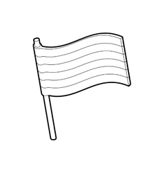 Lgbt pride flag icon outline style vector
