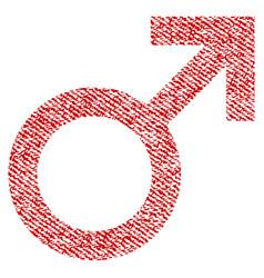 Male symbol fabric textured icon vector
