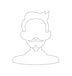man with mustache and beard vector image