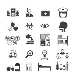 medical and er hospital icons set vector image