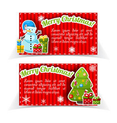 red bright holiday banner set vector image vector image