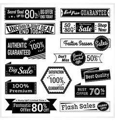Sales promotion set in retro vector image