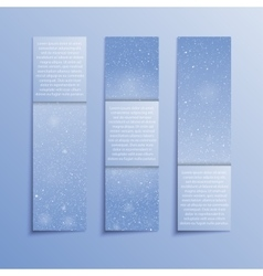 Set Vertical Blue Banners New Year Christmas vector image