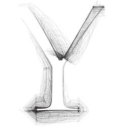 Sketch font Letter Y vector image