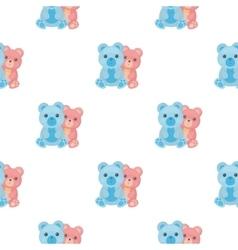 Teddy bears icon in cartoon style isolated on vector