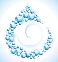 water frame drop vector image vector image