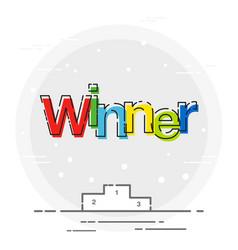 Winner sign icon poduim sport game vector