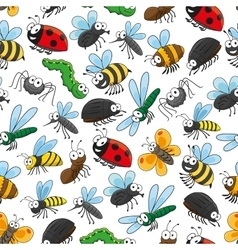 Bugs and insects funny cartoon wallpaper vector