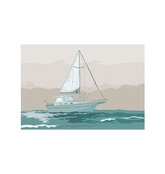 Sailboat retro vector