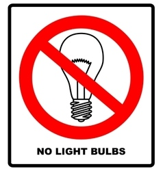 No ban or stop signs light lamp icons vector