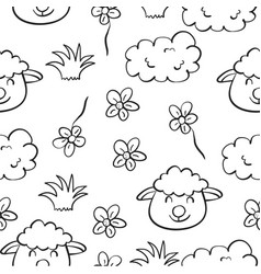 Doodle of sheep hand draw style vector