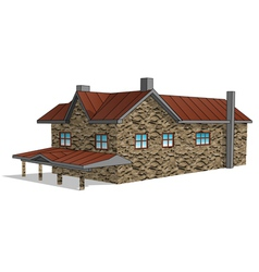 Stone farmhouse vector