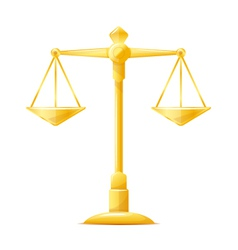 Gold Justice Scales vector image