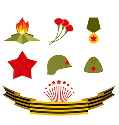 9 may set elements victory day vector