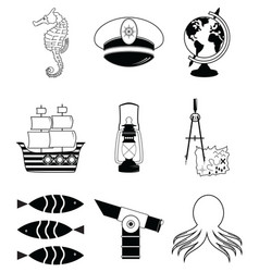 Nautical elements 3 vector