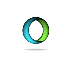 Shape of circle logo graphic letter o creative vector